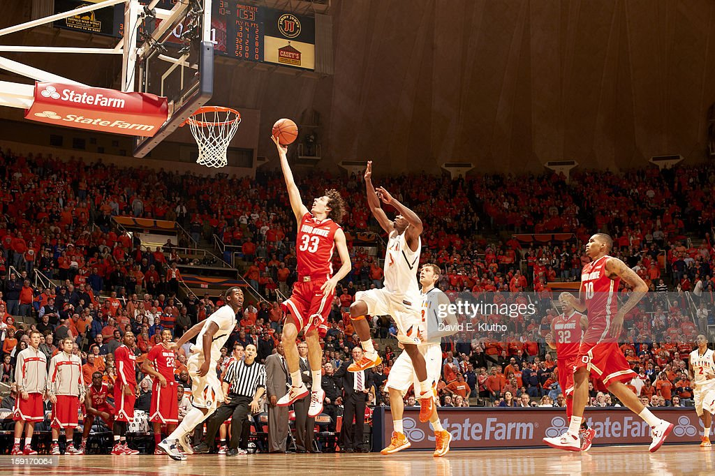 Ohio State Amedeo Della Valle (33) in action vs Illinois at Assembly Hall. David E. Klutho F65 )