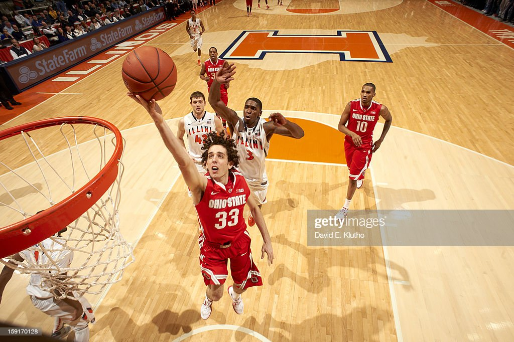 Ohio State Amedeo Della Valle (33) in action vs Illinois at Assembly Hall. David E. Klutho F93 )