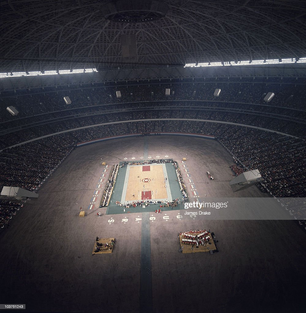Overall view of Astrodome during Houston vs UCLA game. Houston, TX 1/20/1968