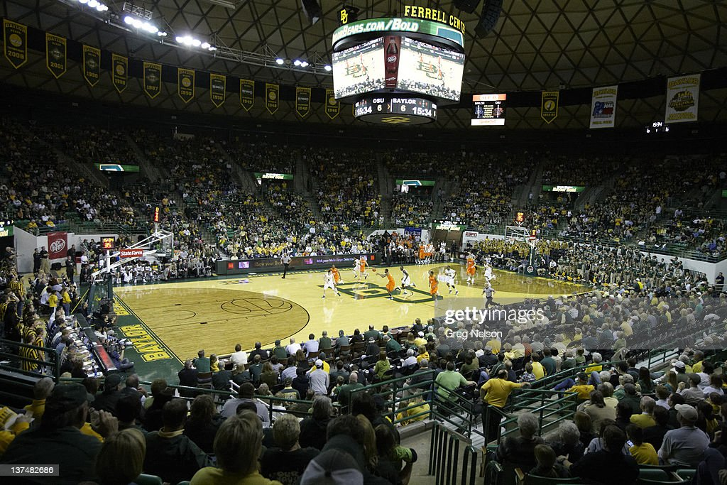 Overall view of The Ferrell Center during Baylor vs Oklahoma State game Waco TX CREDIT Greg Nelson