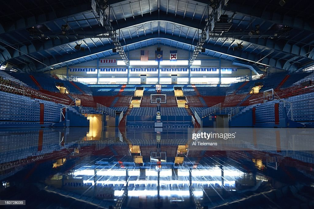 Scenic view of Allen Fieldhouse during photo shoot. Al Tielemans F82 )