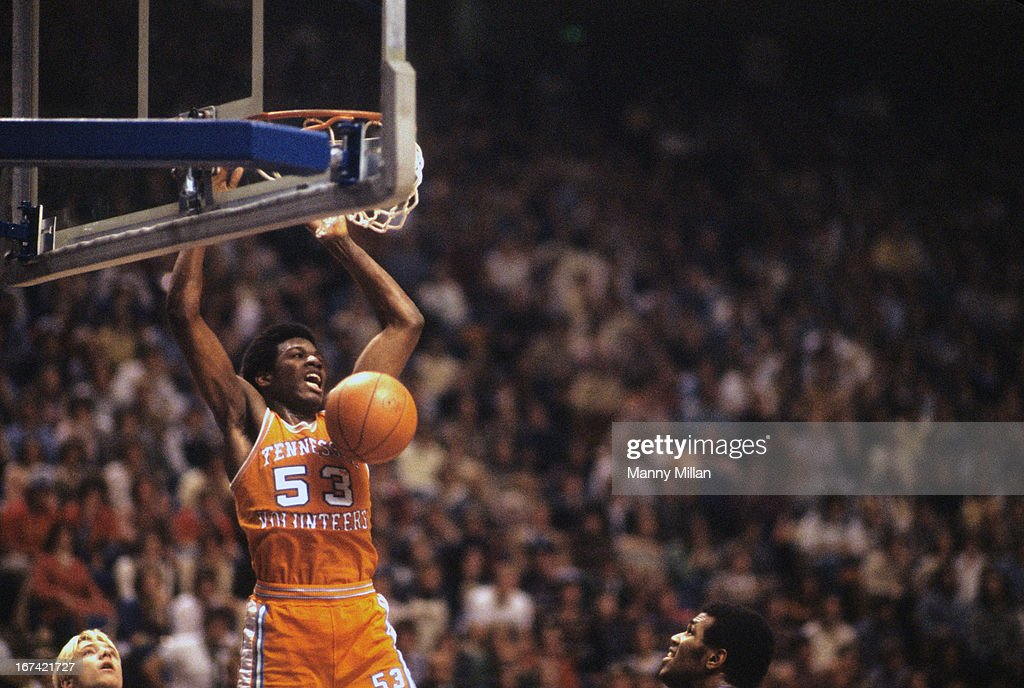 Tennessee Bernard King (53) in action, dunking vs Kentucky at Rupp Arena. Manny Millan F21 )