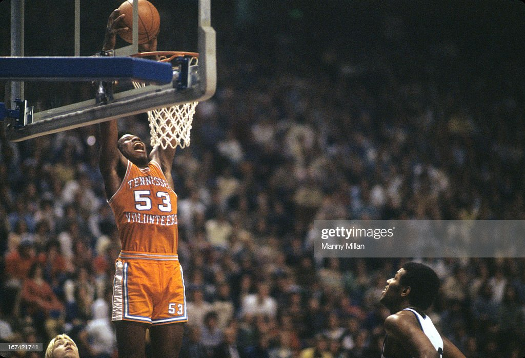 Tennessee Bernard King (53) in action, dunking vs Kentucky at Rupp Arena. Manny Millan F20 )