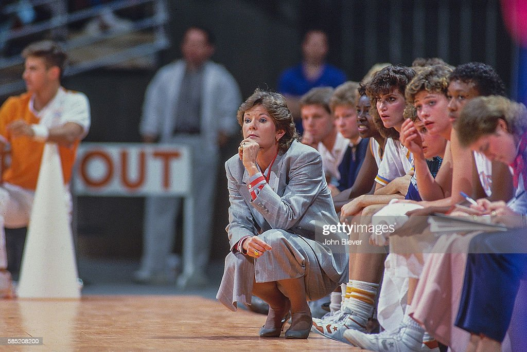 Tennessee head coach Pat Summitt on sidelines during game vs Texas at ThompsonBoling Arena Knoxville TN CREDIT John Biever
