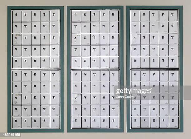 College dormitory mailbox