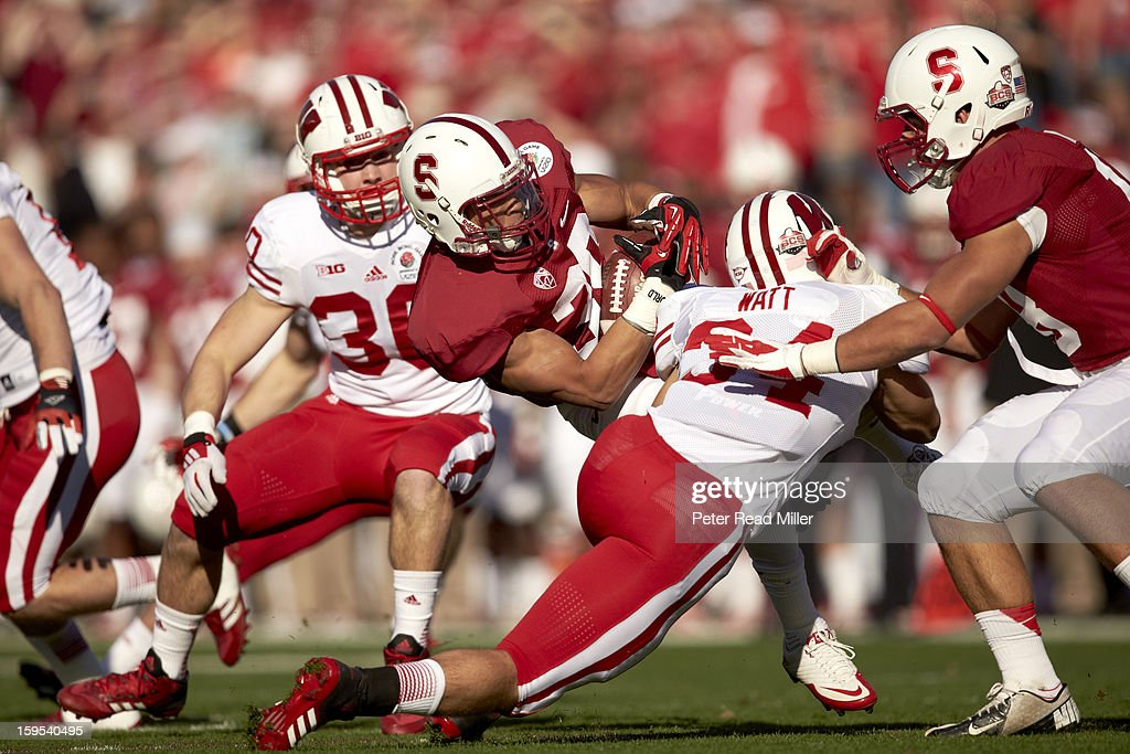 Stanford Kelsey Young (39) in action vs Wisconsin at Rose Bowl. Peter Read Miller F403 )