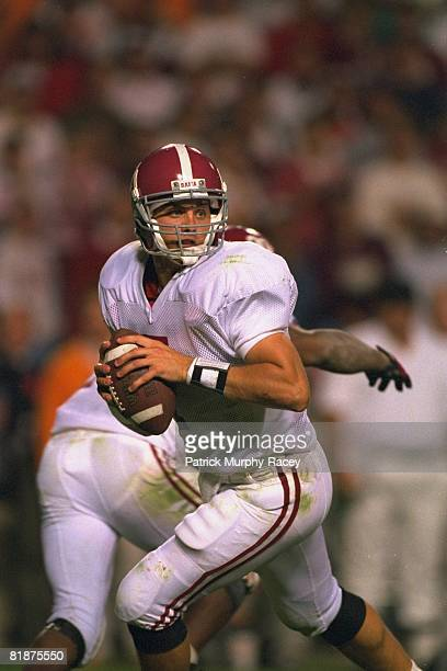 College Football Alabama QB Jay Barker in action vs Tennessee Knoxville TN
