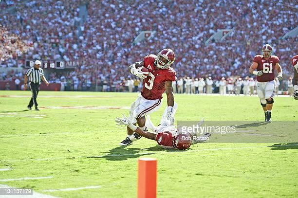 Alabama Trent Richardson in action vs Arkansas at BryantDenny Stadium No TD Tuscaloosa AL CREDIT Bob Rosato