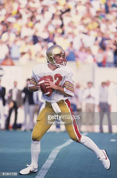 College Football Boston College QB Doug Flutie in action vs West Virginia Morgantown WV