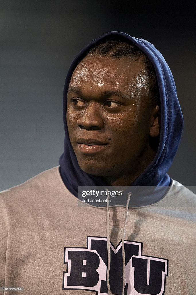 BYU Ezekiel Ansah (47) before game vs San Jose State at Spartan Stadium. Jed Jacobsohn F15 )