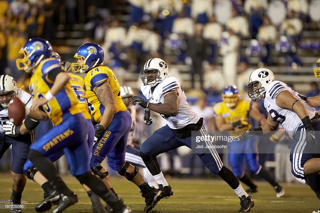 BYU Ezekiel Ansah (47) in action vs San Jose State at Spartan Stadium. Jed Jacobsohn F602 )