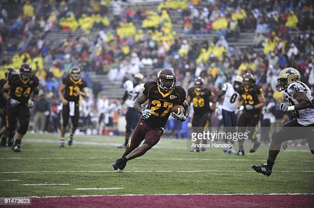 Central Michigan Antonio Brown in action rushing for touchdown vs Akron Mount Pleasant MI 9/26/2009 CREDIT Andrew Hancock