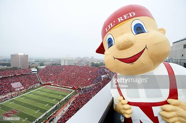 Closeup view of Nebraska mascot Lil' Red during game vs Washington at Memorial Stadium Lincoln NE CREDIT Bill Frakes