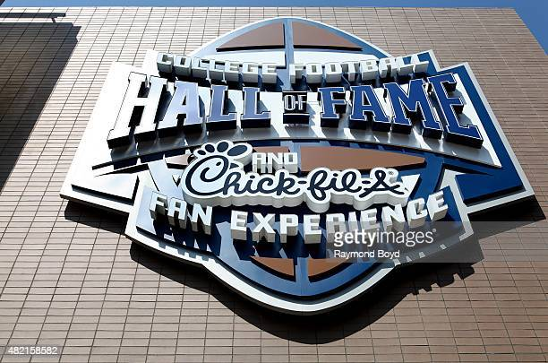 College Football Hall of Fame and ChickfilA Fan Experience on July 18 2015 in Atlanta Georgia