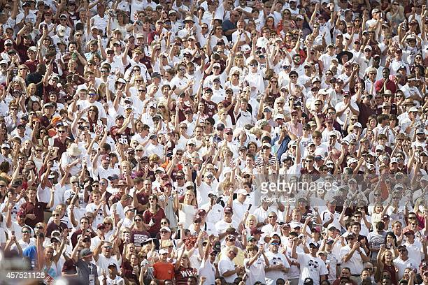 Mississippi State fans in stands waving cowbells during game vs Auburn at Davis Wade Stadium Starkville MS CREDIT Kevin Liles
