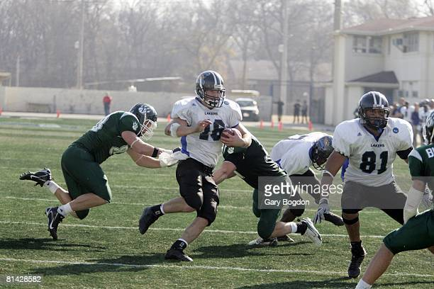College Football NCAA Division II Championship Grand Valley State QB Cullen Finnerty in action rushing vs Northwest Missouri State Florence AL