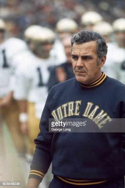 Notre Dame coach Ara Parseghian before game vs USC at Los Angeles Memorial Coliseum Los Angeles CA CREDIT George Long