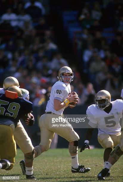 Notre Dame QB Kent Graham in action vs Navy at NavyMarine Corps Memorial Stadium Annapolis MD CREDIT Jerry Wachter