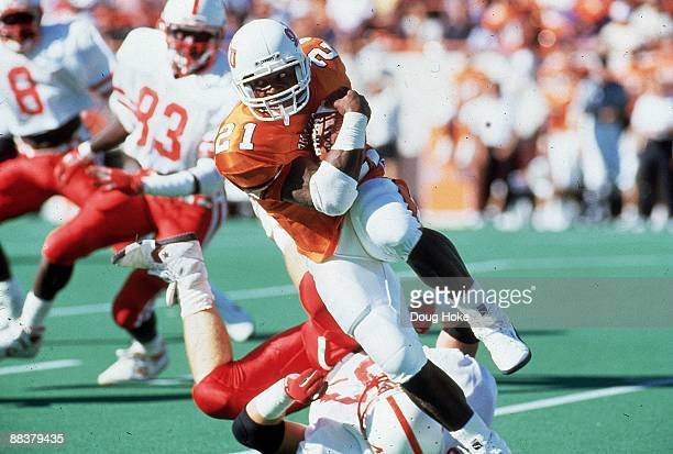 Oklahoma State Barry Sanders in action rushing vs Nebraska Lincoln NE CREDIT Doug Hoke