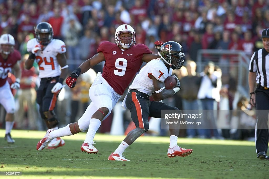 Oregon State Brandin Cooks (7) in action vs Stanford at Stanford Stadium. John W. McDonough F323 )