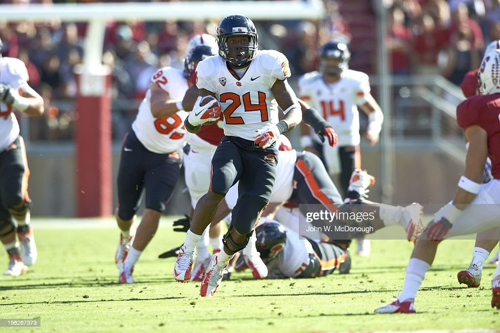 Oregon State Storm Woods (24) in action vs Stanford at Stanford Stadium. John W. McDonough F198 )