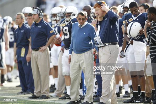 Outback bowl penn state head coach joe paterno with assistant coach wr