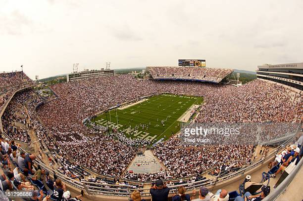 Overall aerial view of Beaver Stadium during Penn State vs Ohio game University Park PA CREDIT Fred Vuich