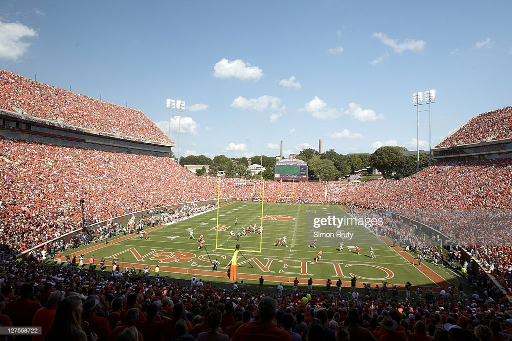 Overall view of Death Valley at Memorial Stadium during Clemson vs Florida State game. Simon Bruty F106 )