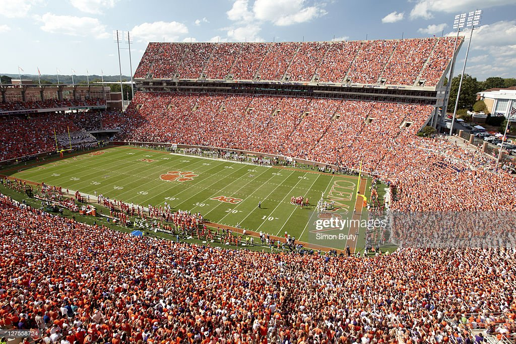 Overall view of Death Valley at Memorial Stadium during Clemson vs Florida State game. Simon Bruty F216 )