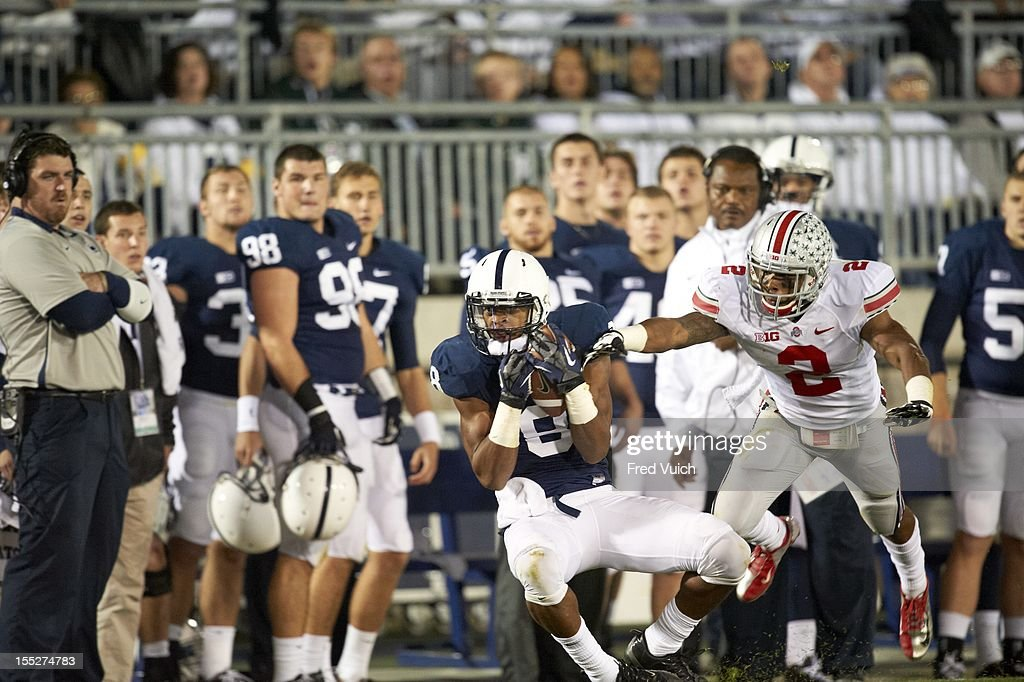 Penn State Allen Robinson (8) in action vs Ohio State at Beaver Stadium. Fred Vuich F213 )