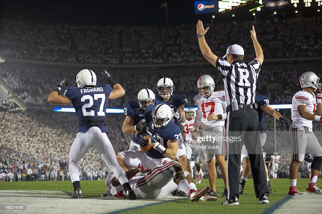 Penn State Colin Bryan (33) in action, scoring touchdown vs Ohio State at Beaver Stadium. Fred Vuich F115 )