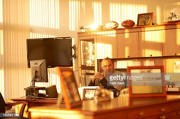 Penn State head coach Bill O'Brien in his office at Lasch Football Building on PSU campus State College PA CREDIT Fred Vuich