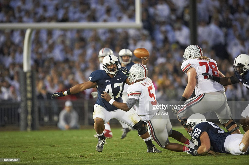 Penn State Jordan Hill (47) in action vs Ohio State at Beaver Stadium. Fred Vuich F189 )