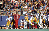 Pittsburgh Pappy Thomas in action forcing incomplete pass vs Florida State Phil Williams at Pitt Stadium Sequence Pittsburgh PA CREDIT Paul Kennedy