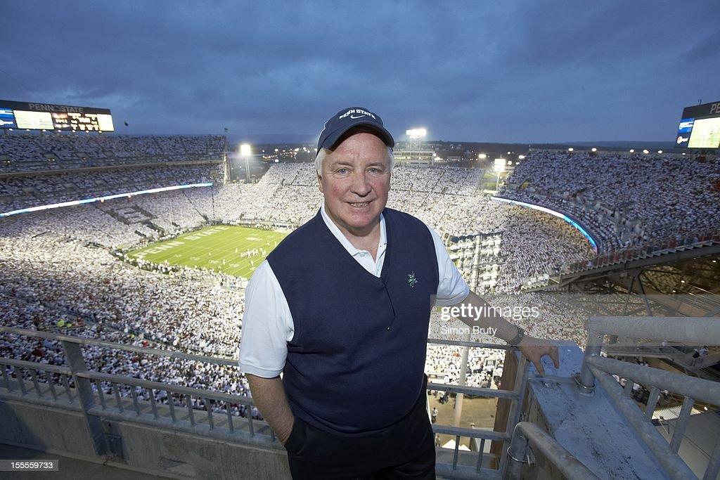 Portrait of Pennsylvania Governor Tom Corbett posing during Penn State vs Ohio State game at Beaver Stadium. Simon Bruty F50 )