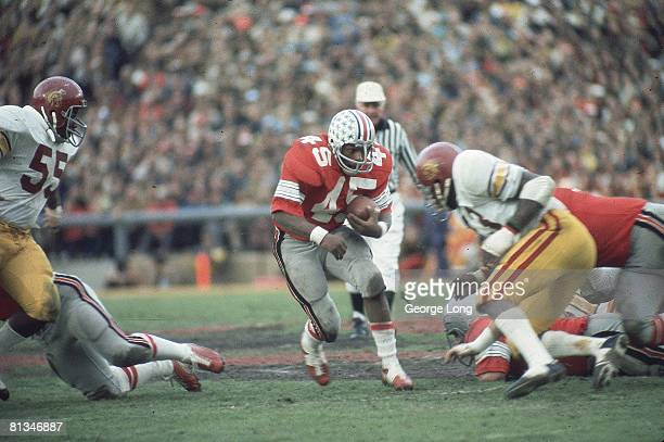 College Football Rose Bowl Ohio State Archie Griffin in action vs USC Pasadena CA 1/1/1974