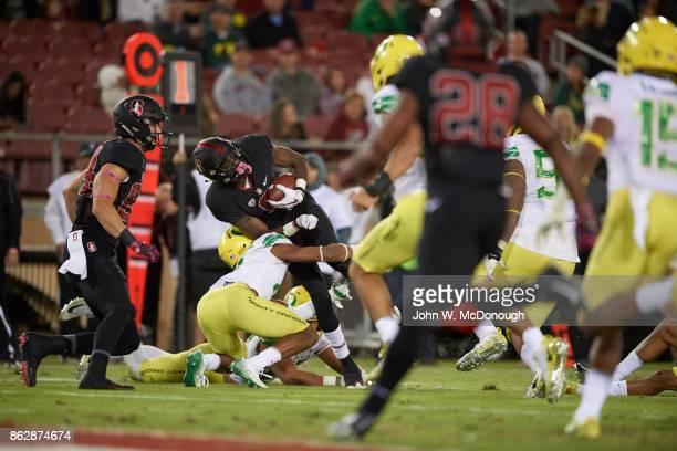 Stanford Donald Stewart in action vs Oregon at Stanford Stadium Stanford CA CREDIT John W McDonough