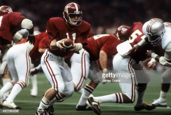 Sugar Bowl Alabama QB Jeff Rutledge in action vs Ohio State at Louisiana Superdome New Orleans LA CREDIT James Drake
