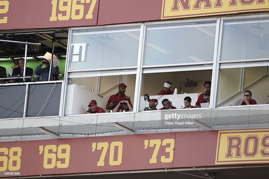 USC assistant head coach Monte Kiffin during game vs Oregon Los Angeles CA CREDIT Peter Read Miller