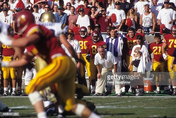 USC coach John Robinson on sidelines during game vs UCLA at Los Angeles Memorial Coliseum Los Angeles CA CREDIT Peter Read Miller