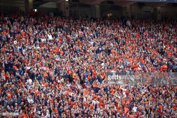View of bald eagle in midair during anthem before Auburn vs Alabama game at JordanHare Stadium Auburn AL CREDIT Kevin Liles