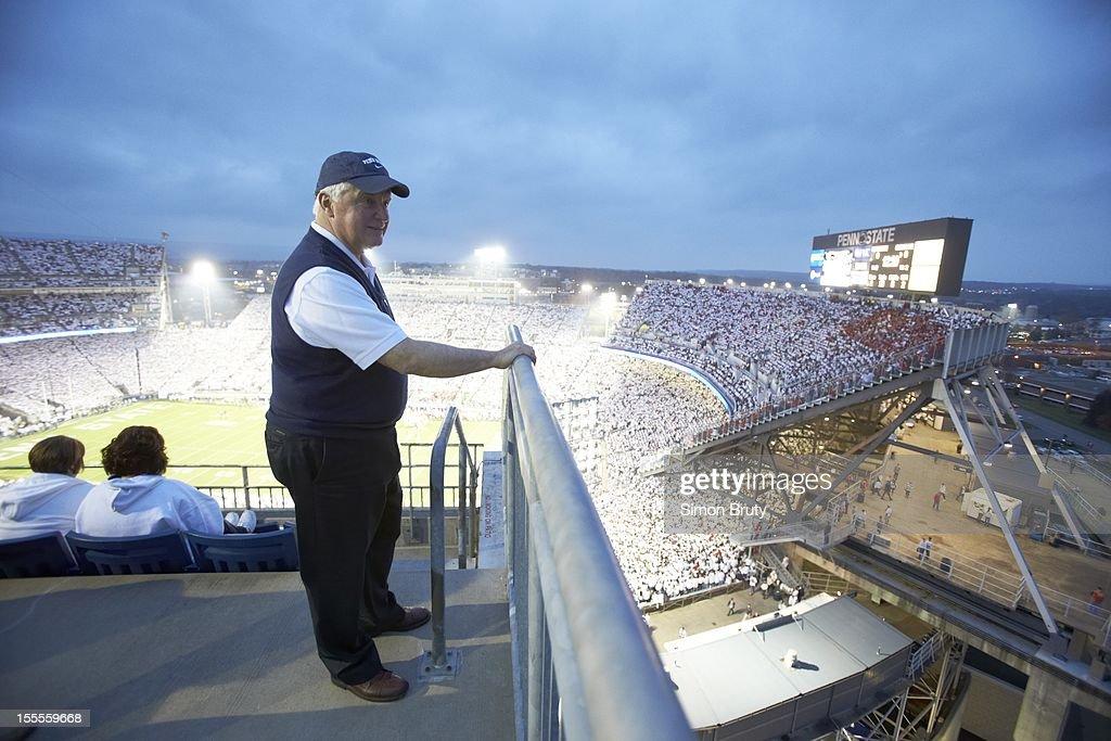 View of Pennsylvania Governor Tom Corbett during Penn State vs Ohio State game at Beaver Stadium. Simon Bruty F38 )