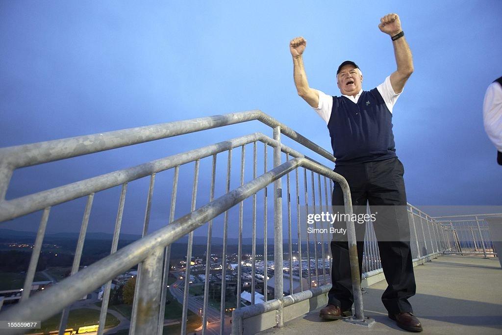 View of Pennsylvania Governor Tom Corbett during Penn State vs Ohio State game at Beaver Stadium. Simon Bruty F95 )