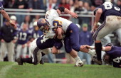 Williams College Michael Hackett in action rushing vs Amherst College at Pratt Field Amherst MA CREDIT Winslow Townson
