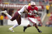 Wisconsin James White in action rushing vs Arizona State Madison WI 9/18/2010 CREDIT John Biever