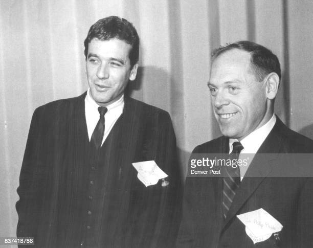 JAN 23 1969 JAN 24 1969 'College for a Day' Speakers Compare Notes at Denver Meeting Dr Lee Devin left is from Vassar College Poughkeepsie N Y Dr...