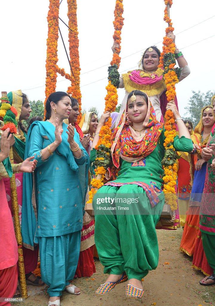 Traditional Swing For Living Room: Teej Festival Celebrations