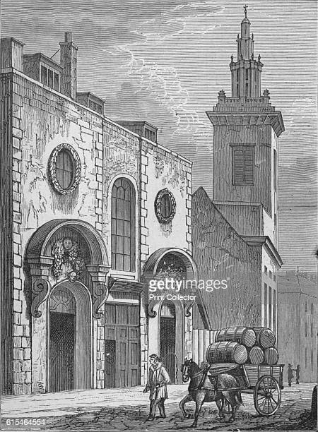 College Hill Whittington's House' 1890 From Picturesque London by Percy Fitzgerald [Ward Downey London 1890] Artist Unknown