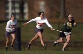 College Lacrosse Maryland Annie Collins in action vs Dartmouth College Park MD 3/23/2004