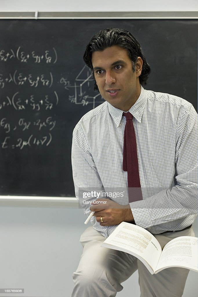 College math instructor : Stock Photo